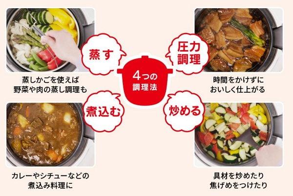 4つの調理法